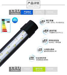 Лампа для аквариума Т8 Minjiang LED 5W white&blue(бело-голубая) 350 мм