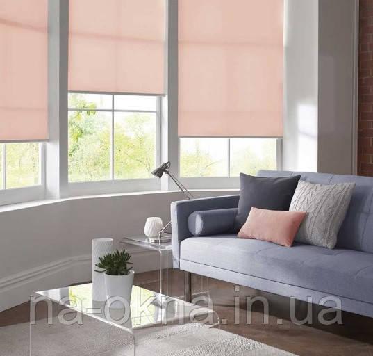 """Рулонные шторы, ткань """"LUMINIS 900"""", система Besta UNI-створка (П-образные направляющие)"""