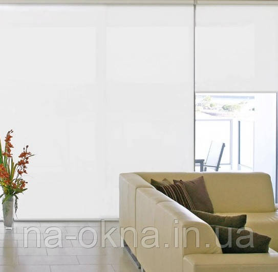 """Рулонные шторы, ткань """"A MAXI"""" , система Besta UNI-створка (П-образные направляющие)"""