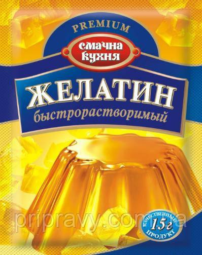 Желатин быстрорастворимый ТМ Смачна кухня, 15 г