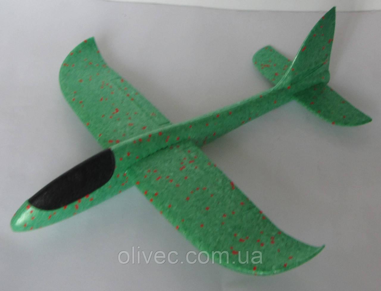 Пенопластовый самолет зеленый