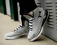 Мужские кроссовки Under Armour 3C CURRY 1 Silver, высокие серые кроссовки Андер Армор, фото 1