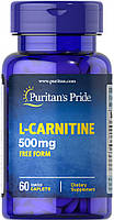 Карнитин жиросжигатель Puritan's Pride L-Carnitine 500 mg 60 каплет