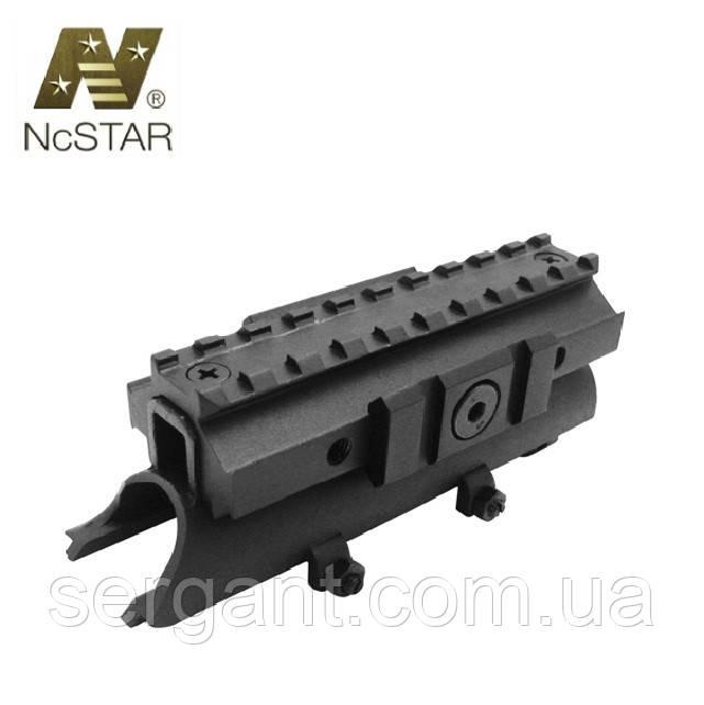 Крышка ствольной коробки для СКС с 3 планками Вивер/Пикатинни  NcSTAR (США)