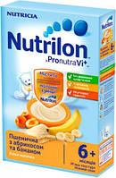 Каша молочная Nutrilon пшеничная с абрикосом  и бананом нутрилон, 225 г,