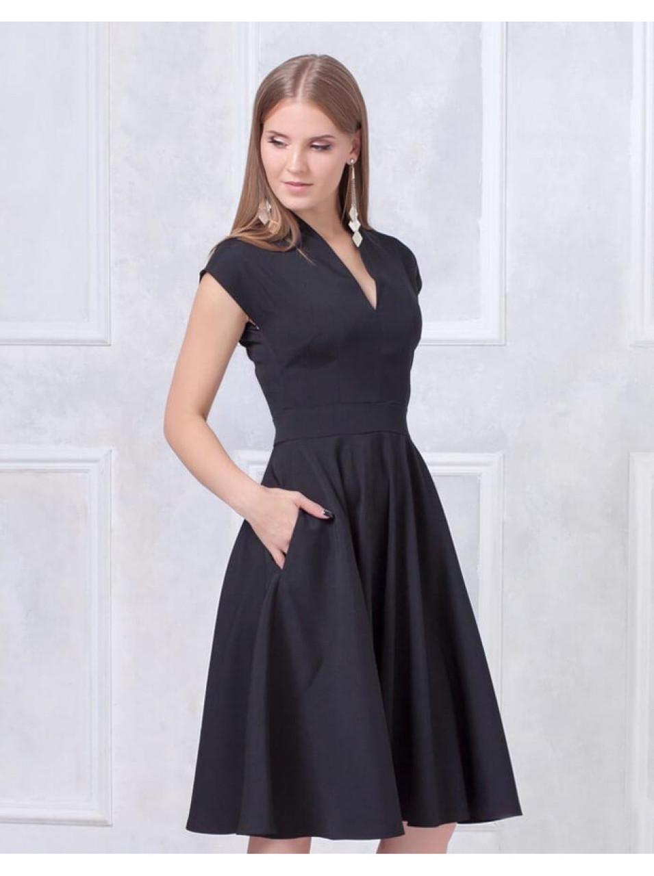 """Платье с пышной юбкой-миди """" Мадам"""""""