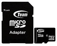 Карта памяти Team 32Gb microSDHC class 10 + adapter SD