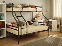 Металлическая двухъярусная кровать Smart Смарт 200(190)х140/80(90) см. Метакам