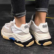 Женские кроссовки в стиле Balenciaga Triple s V2 White Blue ТОП-качество, фото 3