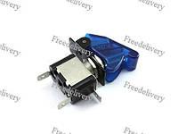 Переключатель, тумблер, выключатель питания 12В 20А LED, синий, фото 1
