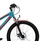Горный велосипед Azimut Hiland 26 GD бирюзово-красный, фото 3