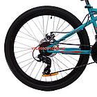 Горный велосипед Azimut Hiland 26 GD бирюзово-красный, фото 6