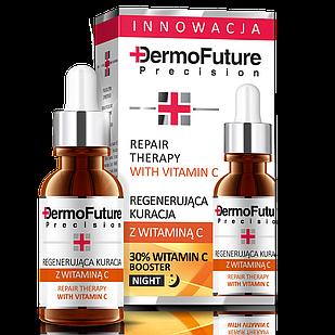 Нічна сироватка Tenex DermoFuture Регенеруючий курс із вітаміном C 20 мл (4009003)