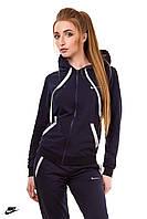Демисезонный трикотажный спортивный костюм женский (черный)
