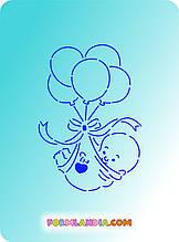 Трафарет і форма Малюк з кульками
