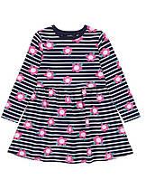 Хлопковое платье с длинным рукавом  на девочку 1.5-2 года, рост 86-92 см. Джордж George Англия