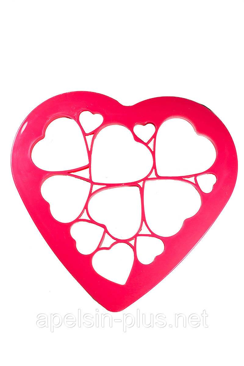 Вырубка для мастики и теста Сердца набор из 12 элементов (от 2,5 см до 7,5 см)
