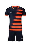 Футбольная форма Europaw с коротким рукавом, сине-оранжевая, фото 1