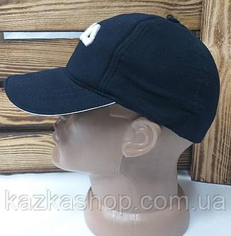 """Мужская кепка темно-синего цвета, с вышивкой в стиле """"Fila"""" (копия), трикотаж, на резинке, фото 2"""