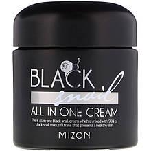 """Крем для лица с черной улиткой Mizon """"Black Snail All In One Cream"""" для проблемной кожи (75 мл)"""