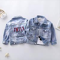 Джинсовая куртка 100, 120, 130, фото 1