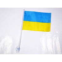 Флажок Украины  с наконечником и с присоской