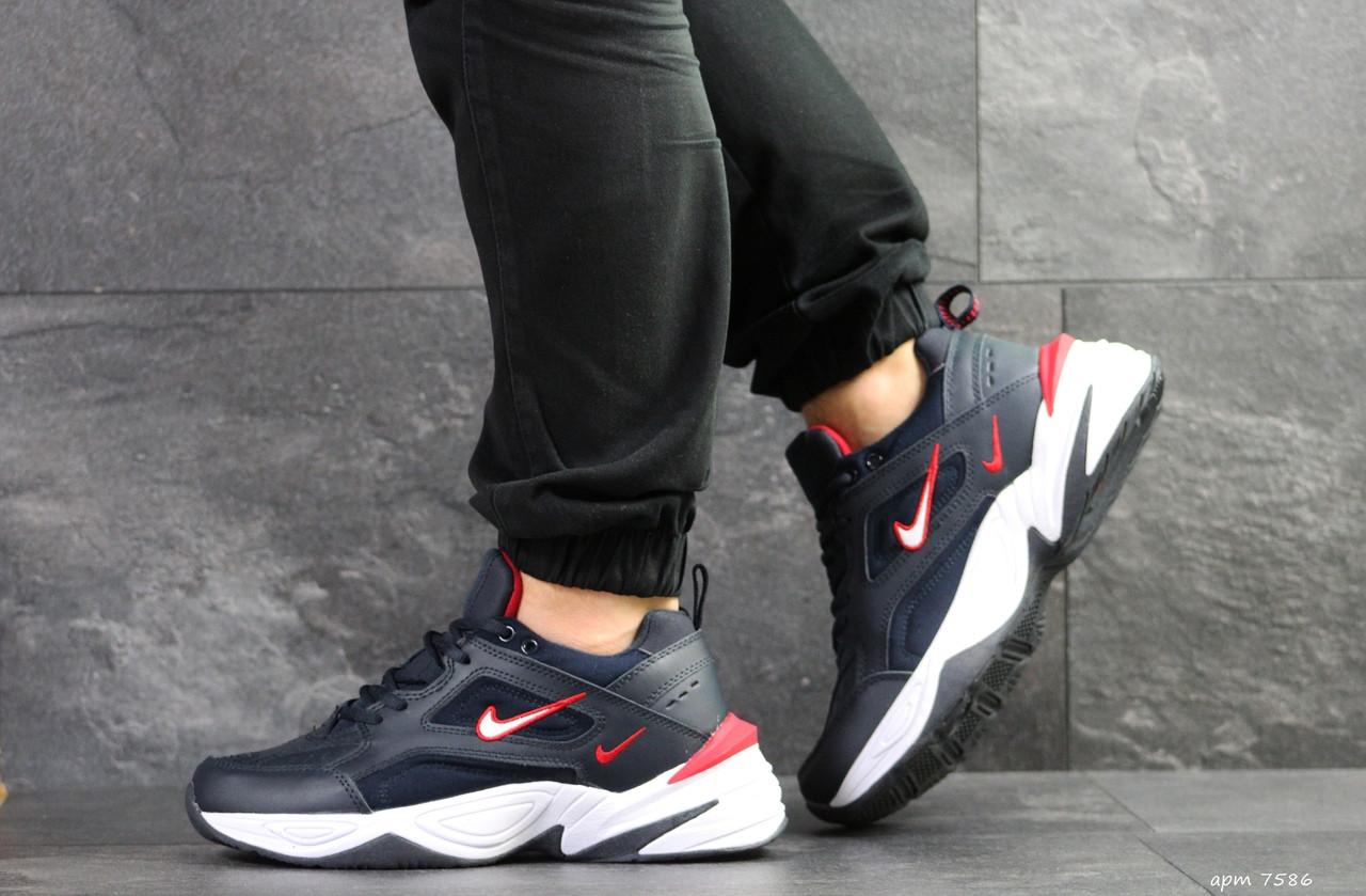Мужские кроссовки Nike M2K Tekno,темно синие с белым 44р