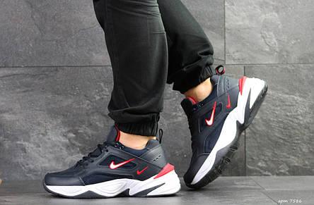 Мужские кроссовки Nike M2K Tekno,темно синие с белым 44р, фото 2