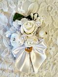 Бутоньерка свадебная Bouquet. Цвет белый., фото 2