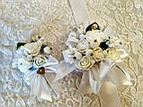 Бутоньерка свадебная Bouquet. Цвет белый., фото 3