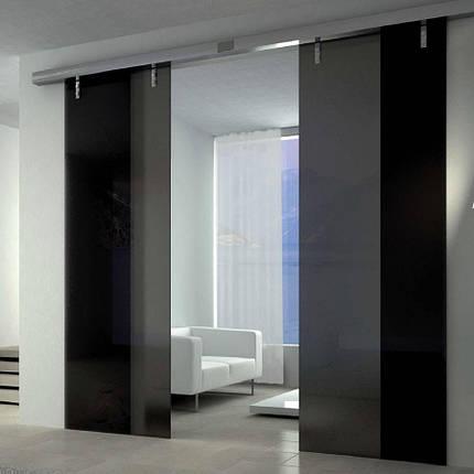 Стеклянные межкомнатные раздвижные двери, фото 2