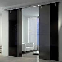 Скляні міжкімнатні розсувні двері