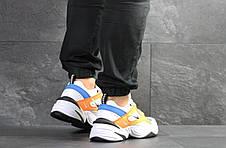 Мужские кроссовки Nike M2K Tekno,белые с оранжевым, фото 3