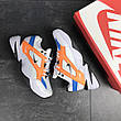 Мужские кроссовки Nike M2K Tekno,белые с оранжевым, фото 2