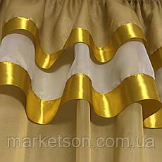 Готовая короткая тюль с шторками Роксана, фото 2