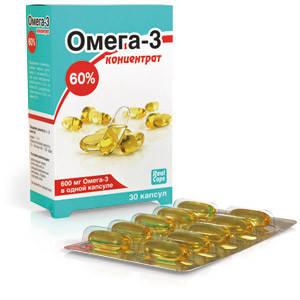 ОМЕГА-3 КОНЦЕНТРАТ 60% 1000МГ N30 КАПС/РЕАЛКАПС/, фото 2