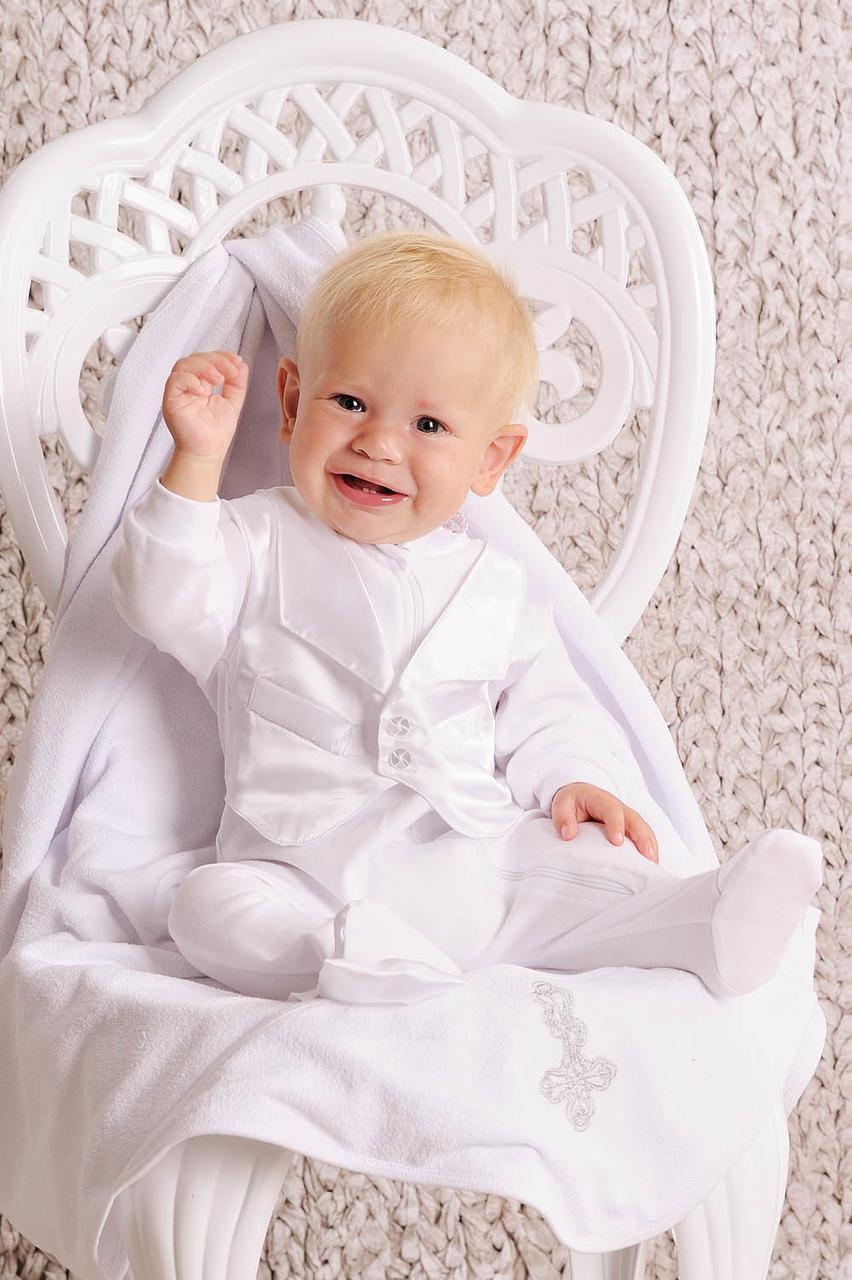 Комплект крестильный для мальчика (комбинезон) без крыжмы