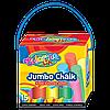 """Мелки цветные в картонном ведерке """"Jumbo,  15 мелков, 6 цветов Jumbo Colorino"""