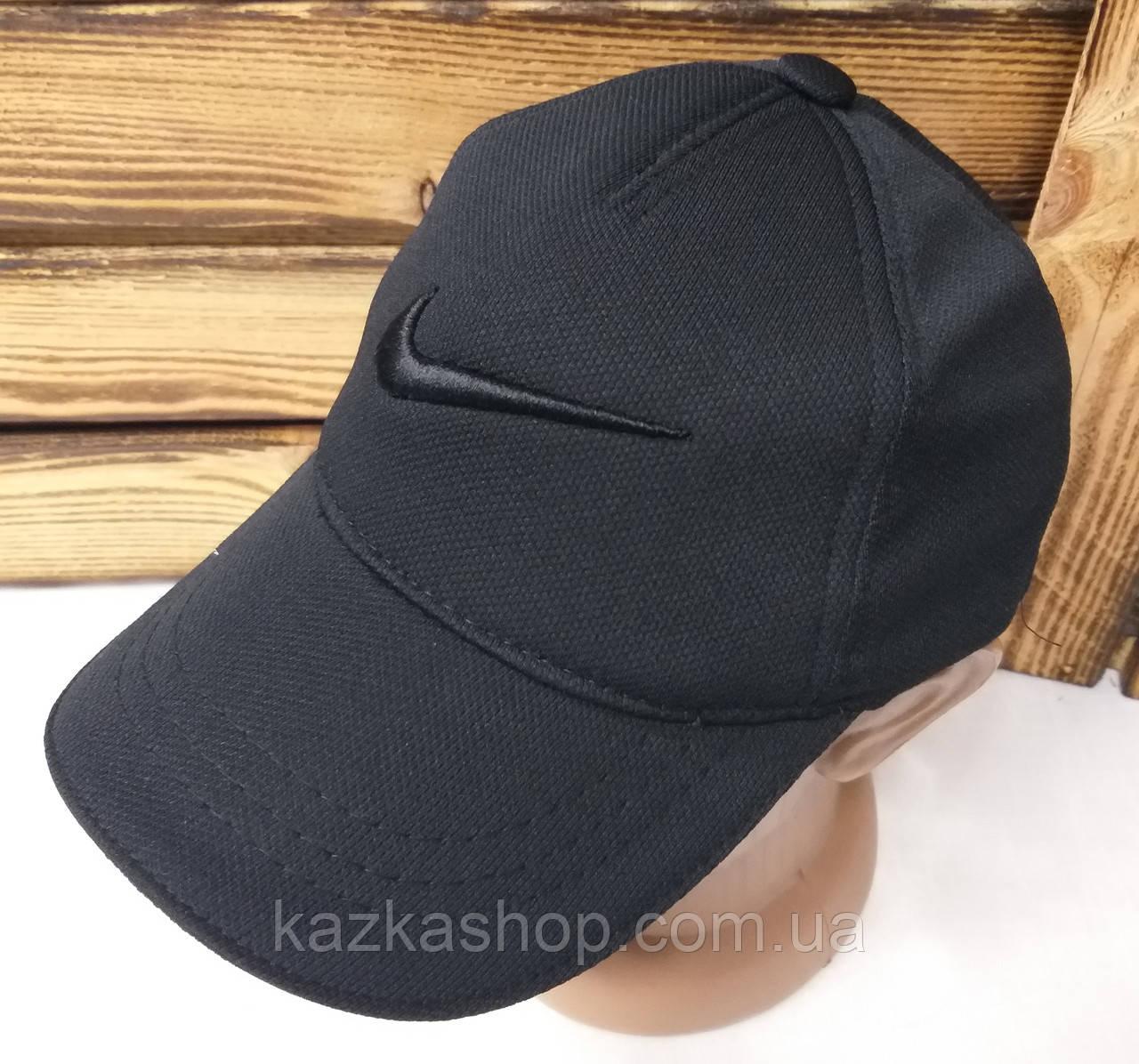 Мужская кепка черного цвета, с вышивкой в стиле Nike (реплика), большая вышивка, лакоста, на регуляторе