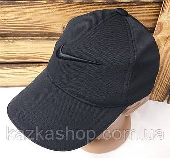 Мужская кепка черного цвета, с вышивкой в стиле Nike (реплика), большая вышивка, лакоста, на регуляторе, фото 2