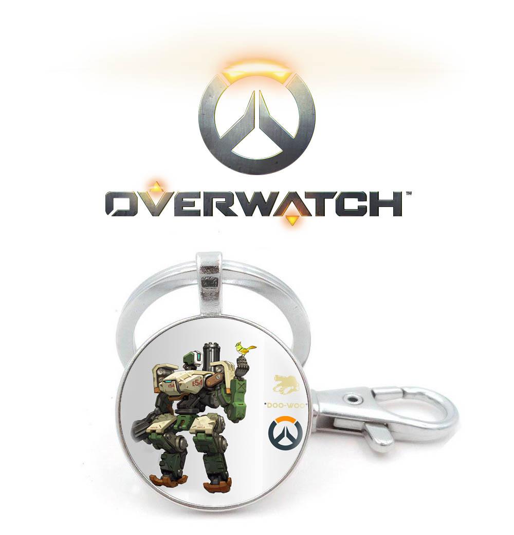 Брелок Overwatch с игровым персонажем Бастион