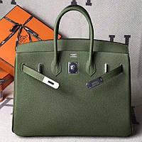f01c0e046e1f Хит Женская сумка Кожа Hermes Birkin Гермес Биркин 35 см зеленая Original  quality