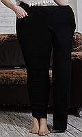 Женские джинсовые лосины с высокой посадкой большого размера 50-58 размера черный