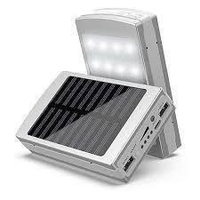 Зарядное устройство Solar Power Bank 50000 + LED. Power bank 50000mаh с Led панелью и солнечной батареей