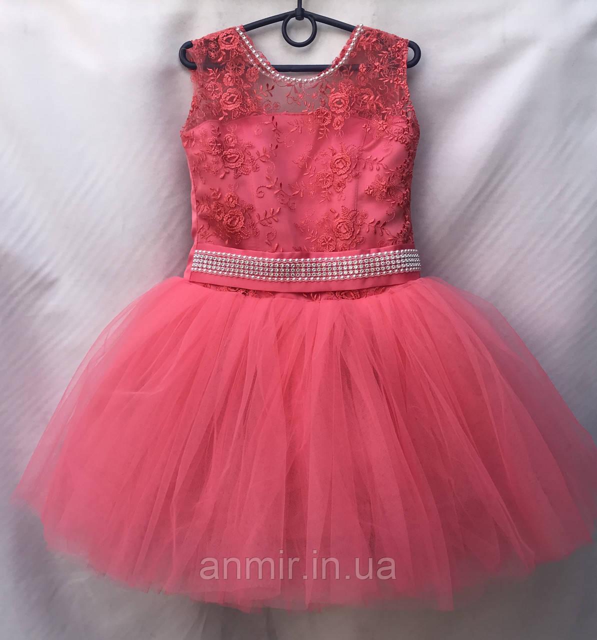 502e699a1877ec Детское нарядное платье для девочки с короткой юбкой 6-7 лет,
