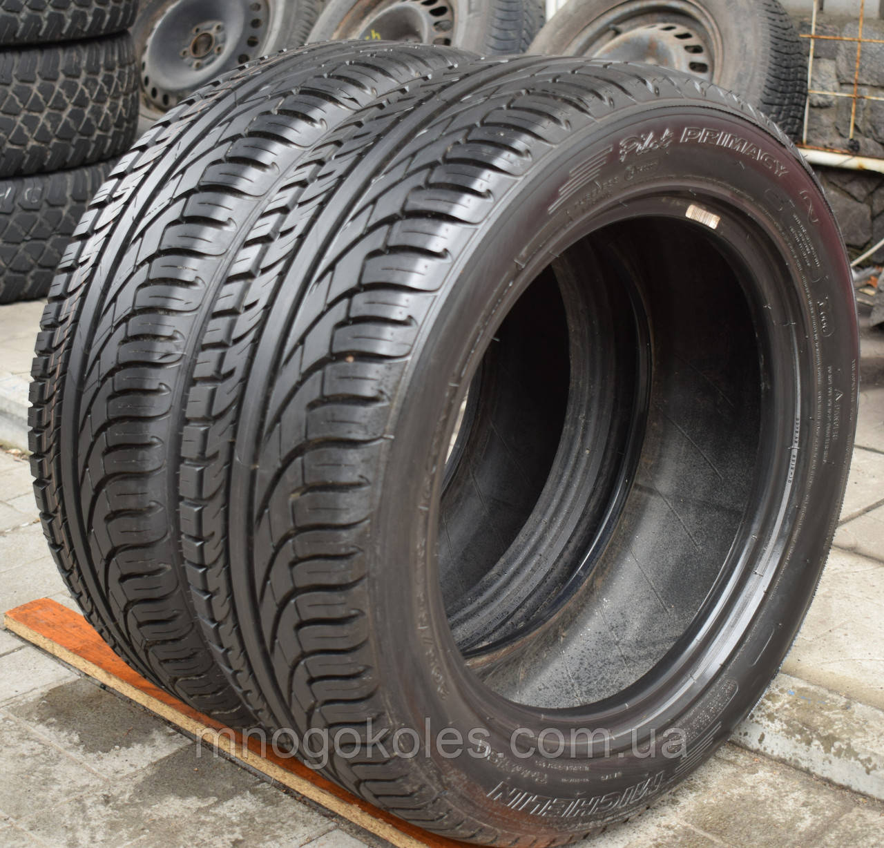 Шины б/у 205/55 R16 Michelin Pilot Primacy, ЛЕТО, 8 мм, пара