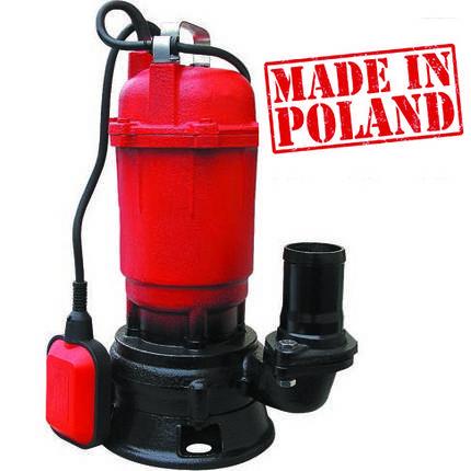 Насос фекальний 0,9 кВт (8 мᵌ/год 12 м.) Optima WQD 8-12 (Польща), фото 2