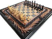 Шахматы с нардами сувенирные ручной работы