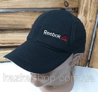 Мужская кепка черного цвета, с вышивкой в стиле Reebok (реплика), малая вышивка, трикотаж, на регуляторе, фото 2