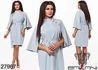 Оригинальное прямое платье под пояс с рукавами без шва с 50 по 56 размер, фото 1